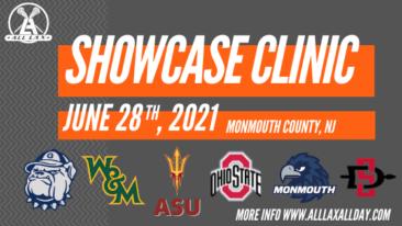 College Showcase Clinic June 28th